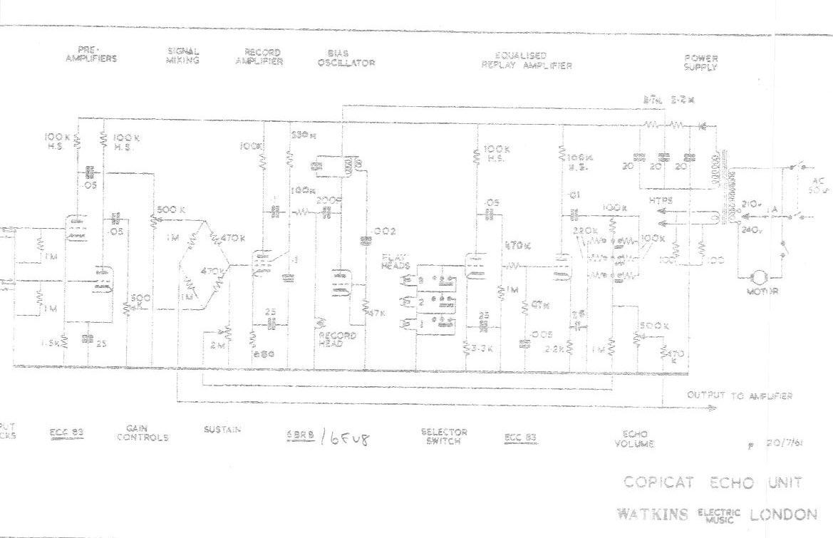 1961 Watkins Copicat Schematic