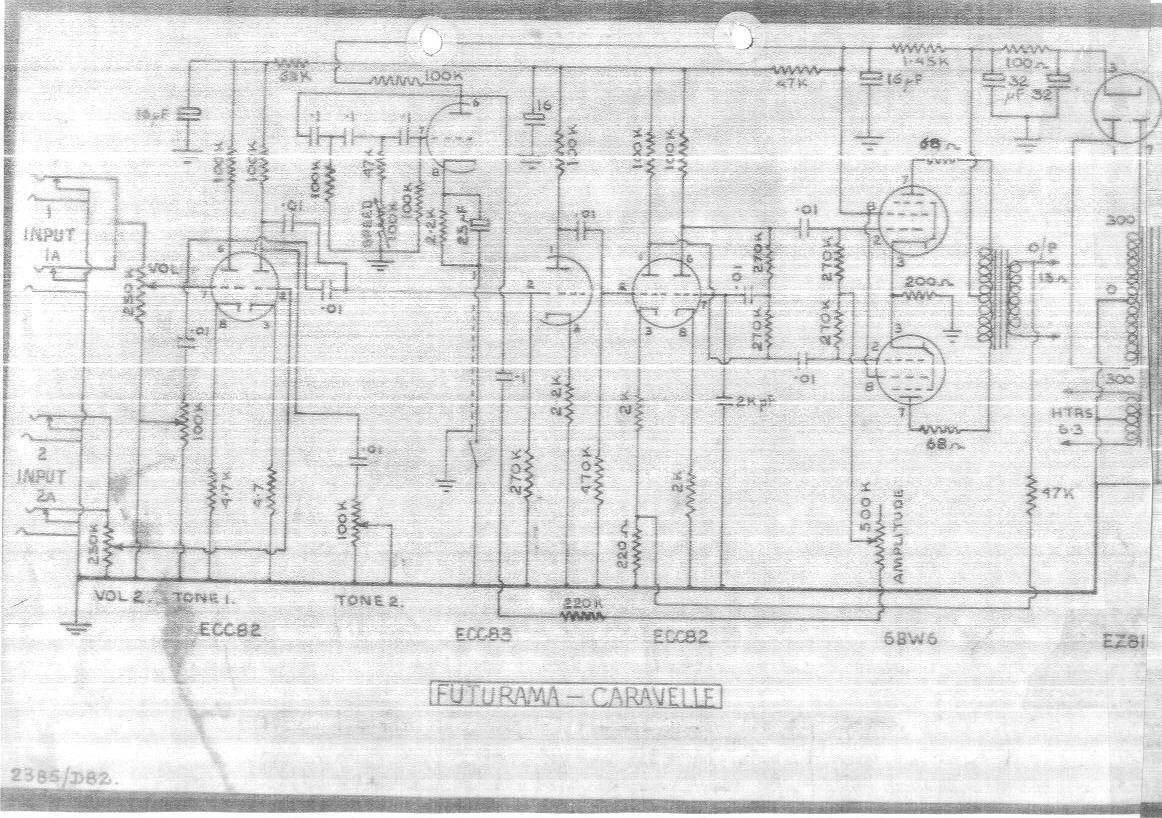hight resolution of high quality futurama caravelle 15 watt amplifier schematic wiring diagram