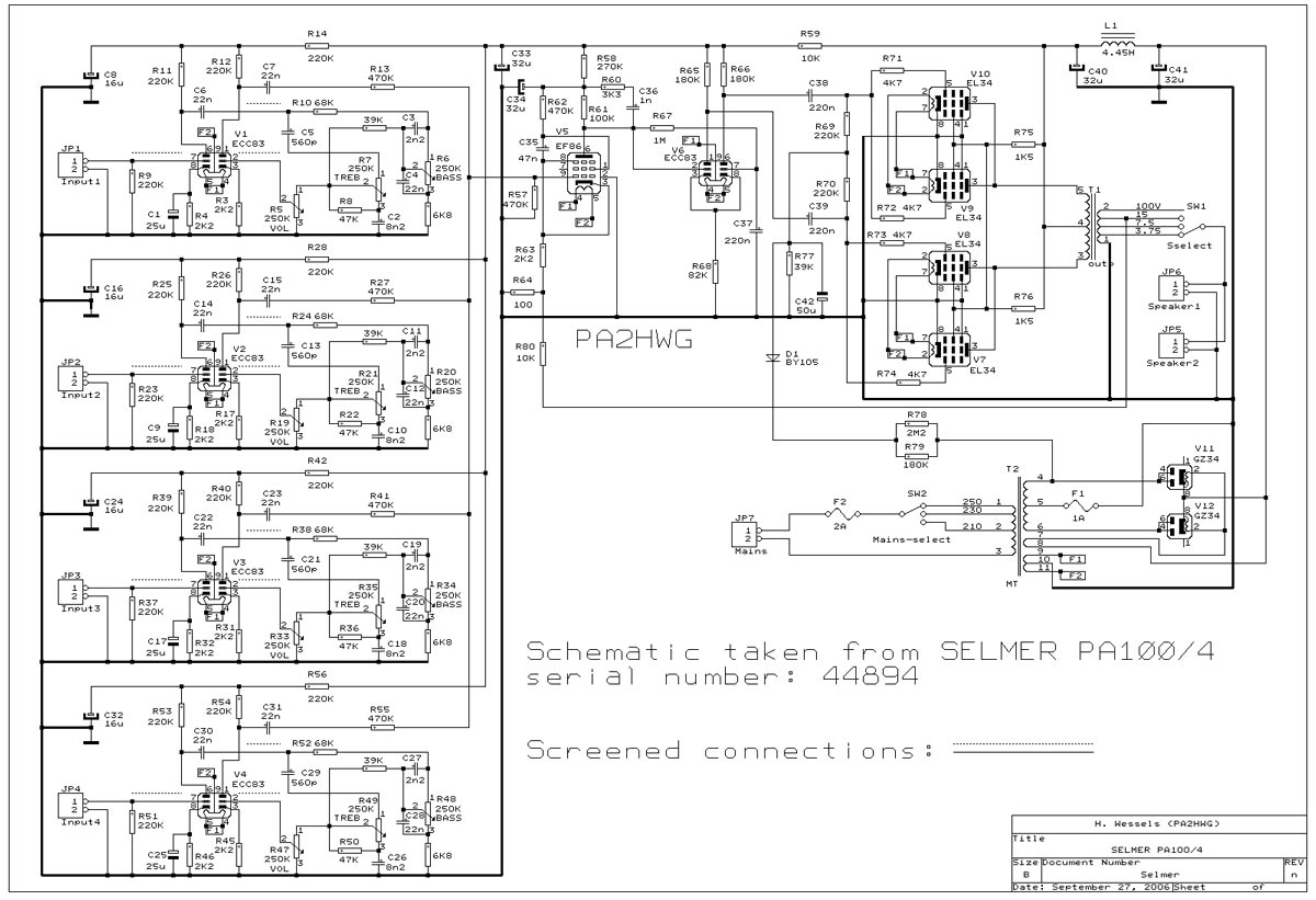 hight resolution of selmer pa 100 amplifier schematicreturn to selmer amplifiers wiring schematics