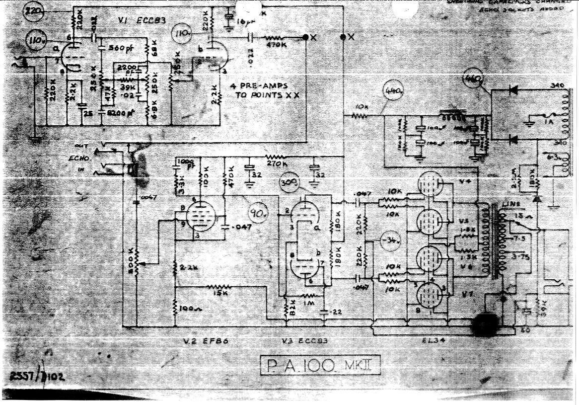 hight resolution of selmer pa 100 mk ii amplifier schematic wiring diagram
