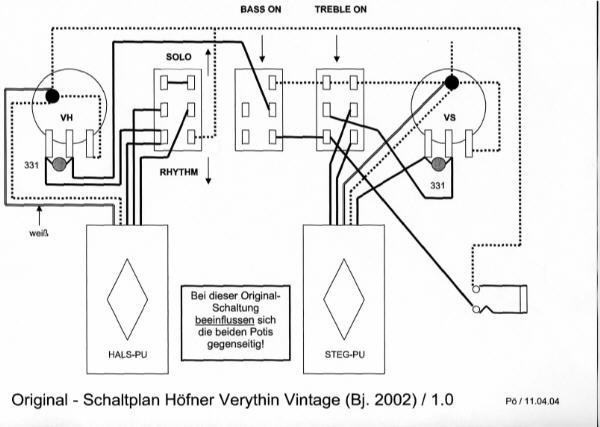 hofner violin bass wiring schematic