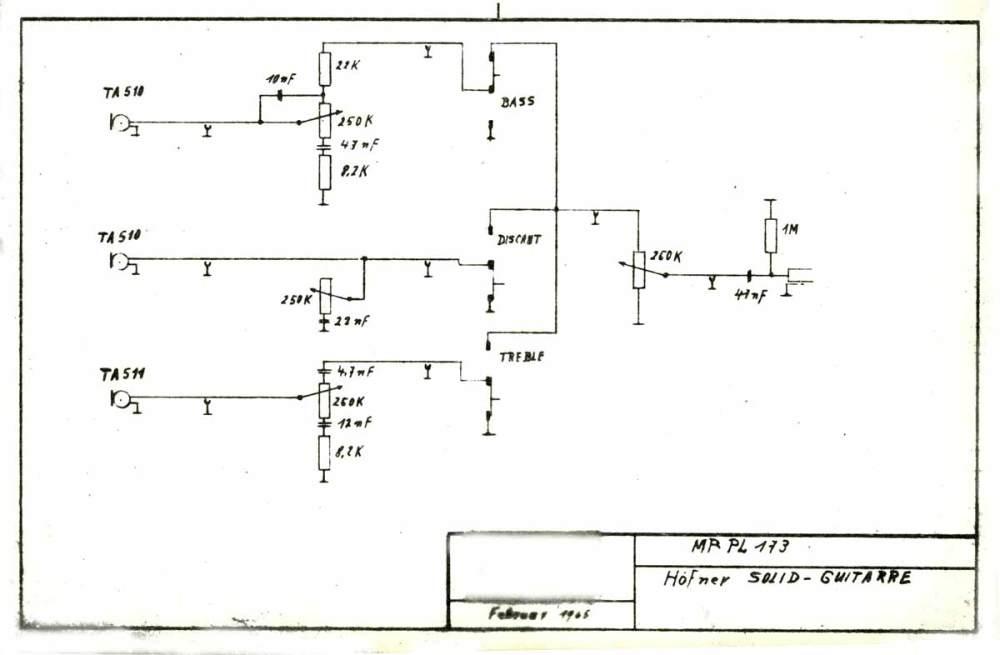 medium resolution of hofner model 173 solid guitar february 1965