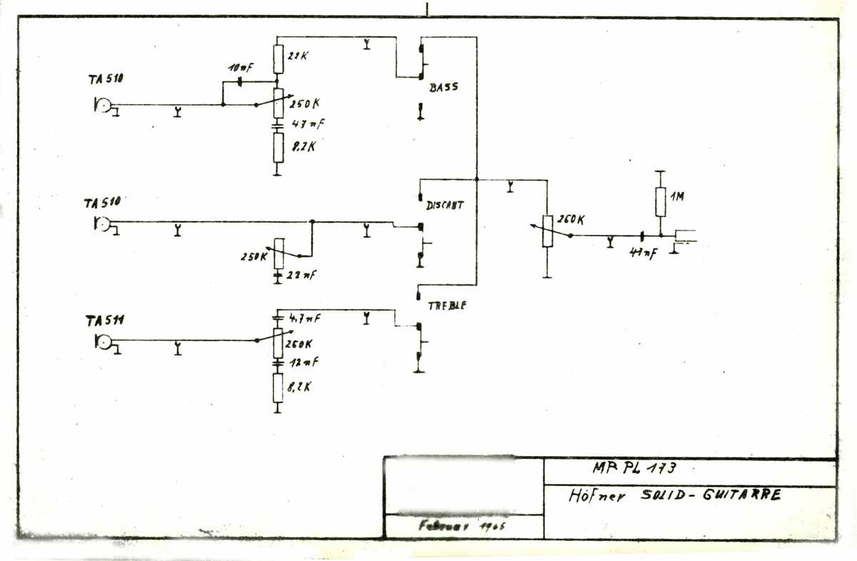 hight resolution of hofner model 173 solid guitar february 1965