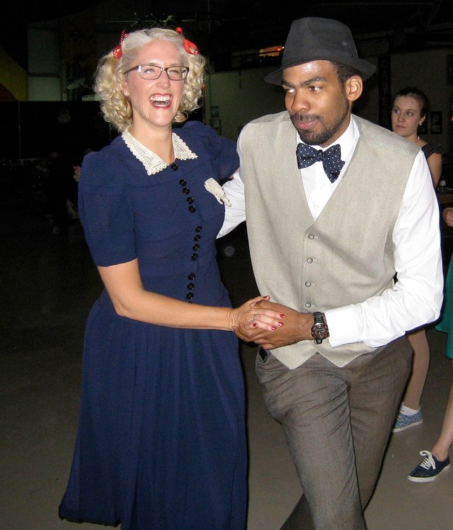 Lindy Hop at a 1940s swing dance