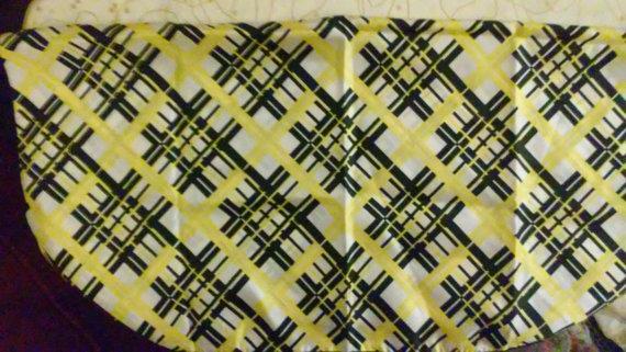 1950s 1960s vintage plaid scarf