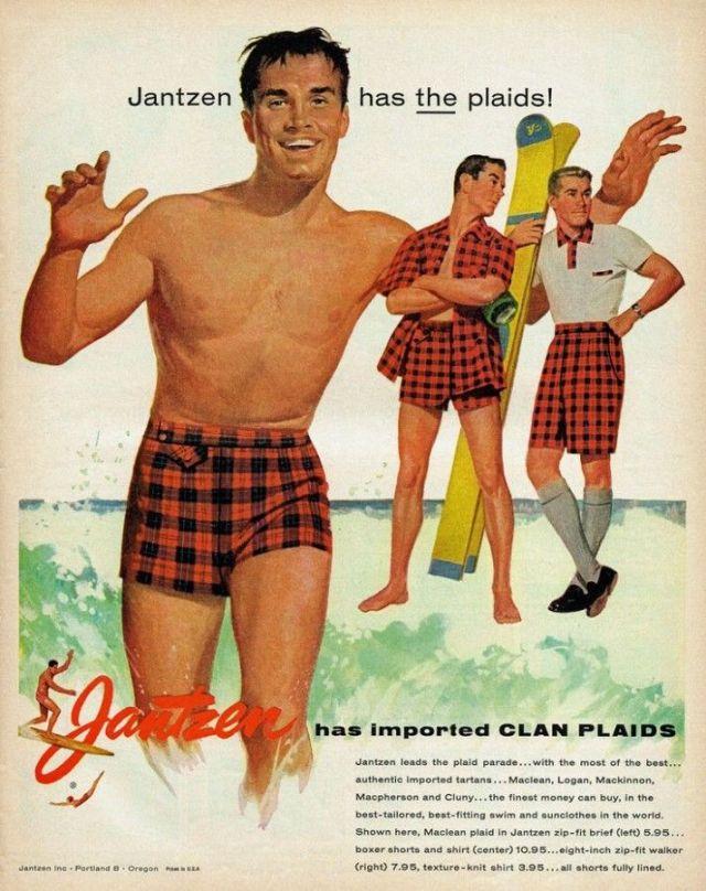 1950s Jantzen vintage swimsuit ad for men