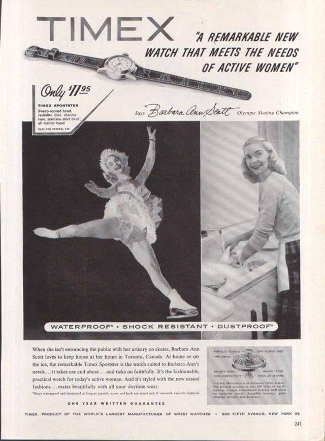 Barbara Ann Scott Timex Vintage Ad