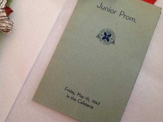 1940s Vintage Dance Card