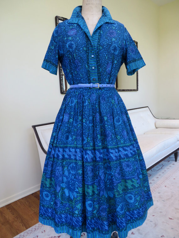1950s Shirtwaist Dress