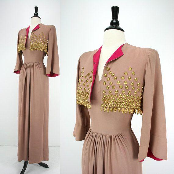 1940s Vintage Dress and Bolero Jacket James Rothenberg