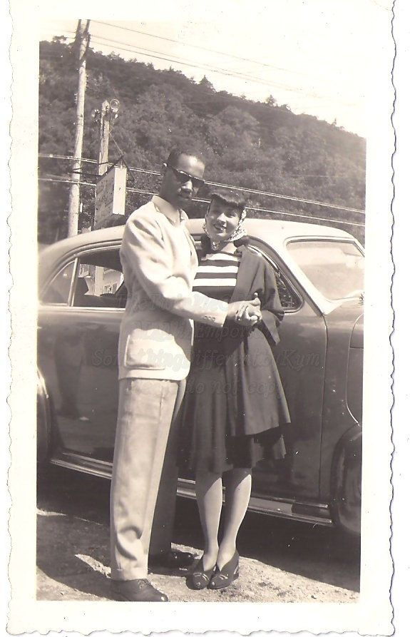 1940s couple in love vintage photo
