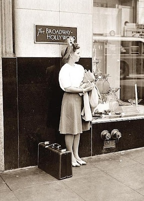 1942 vintage woman on the street