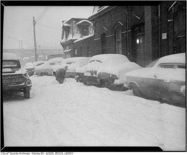 Toronto Snowstorm 1950s or 1960s