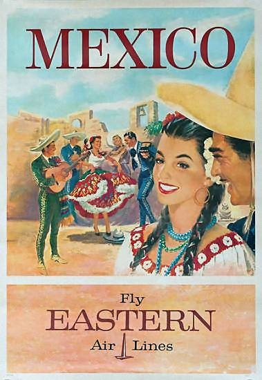 vintage mexico travel ad-Eastern Airlines