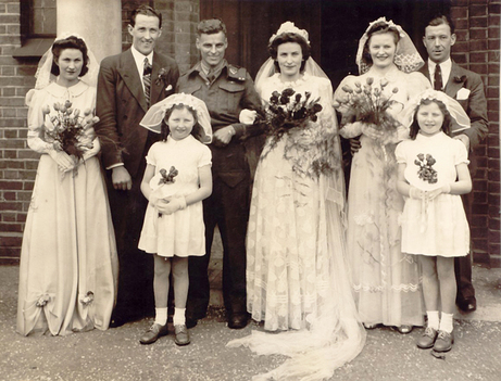 1940s Canadian War Bride wedding