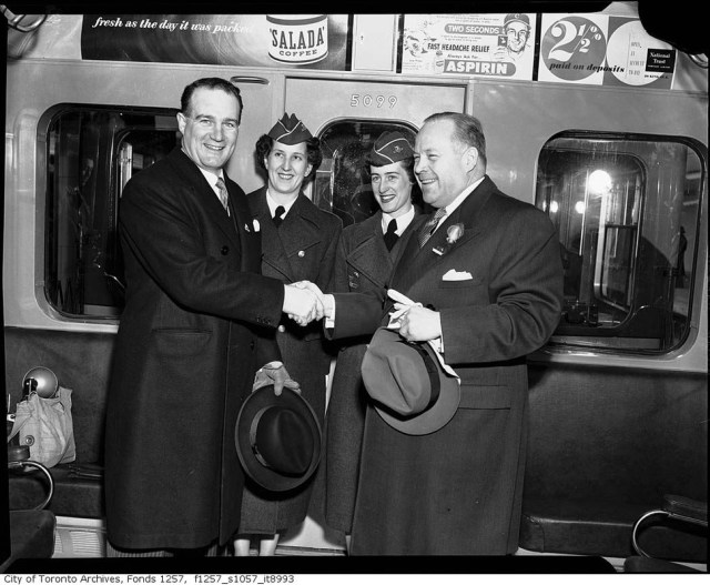1954 Opening of the toronto subway