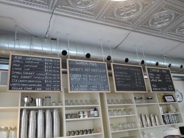 Decor of Bean and Baker Malt Shop