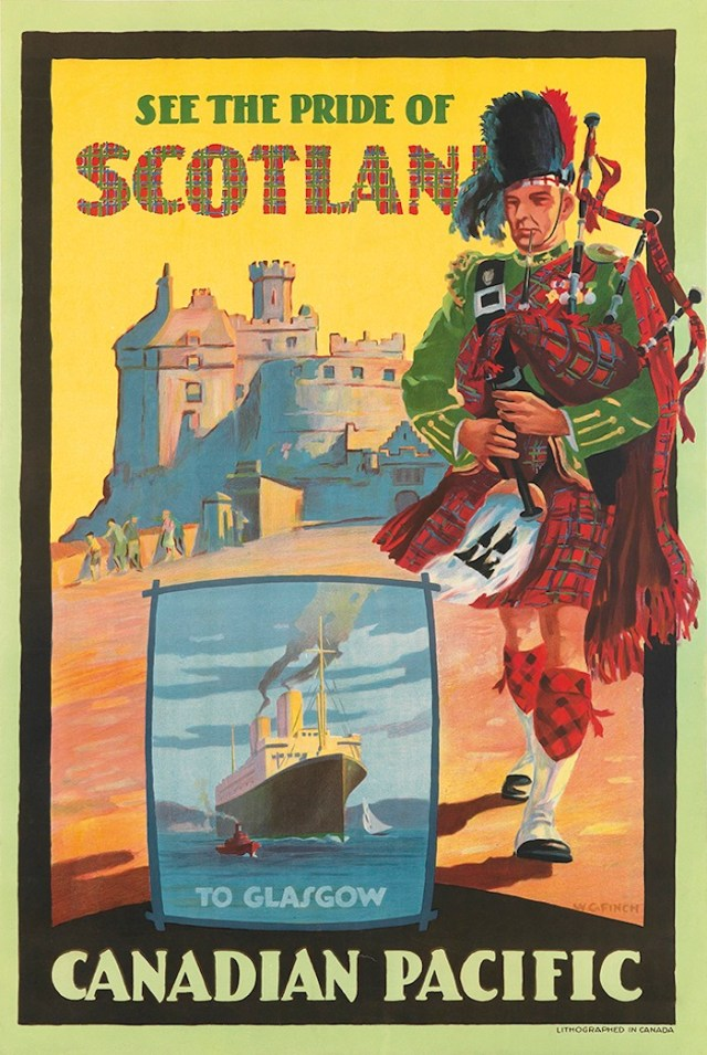 Canadian Pacific vintage poster to Glasgow