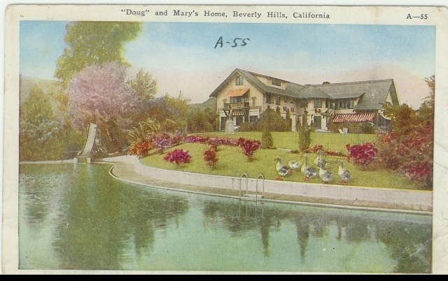 Mary Pickford and Douglas Fairbanks home pickfair