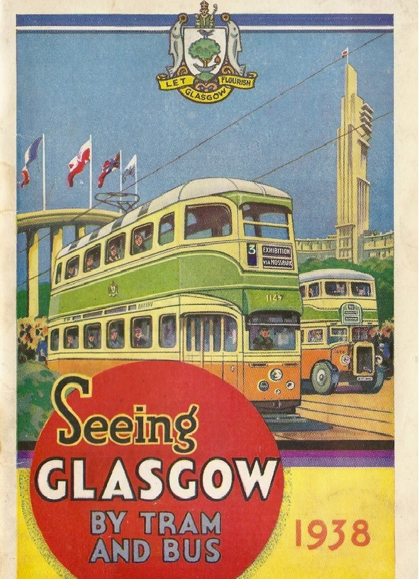 Vintage Glasgow travel ad 1930s