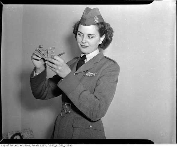 Miss Toronto 1946 TTC Uniform