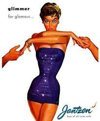 1950s Jantzen swinwear ad