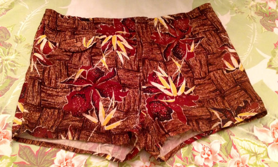 1950s men vintage swim trunks