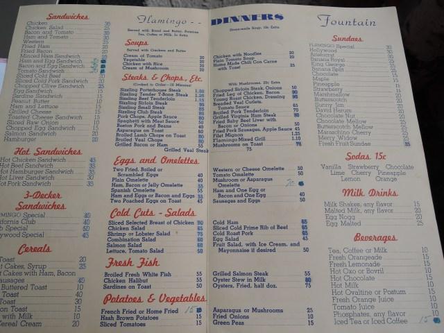 Flamingo restaurant menu Toronto