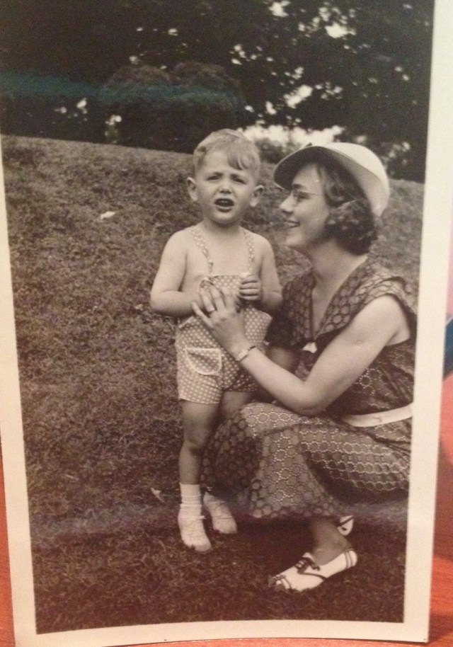 1930s vintage photo of boy and mother