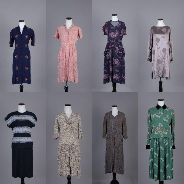 1940s vintage dresses lot