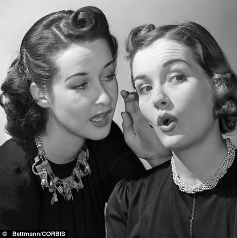 vintage image of 2 ladies talking