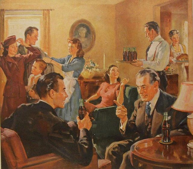 1940s vintage coca cola ad