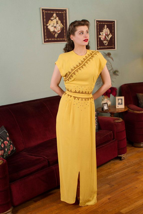 1940s vintage evening gown