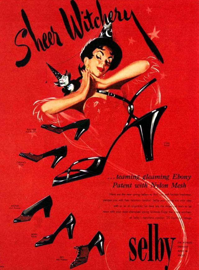 vintage 1950s shoe ad halloween