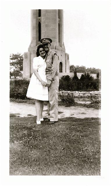 1940s Couple. Soldier & Woman