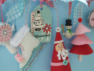 Holiday Vintage Felt Garland
