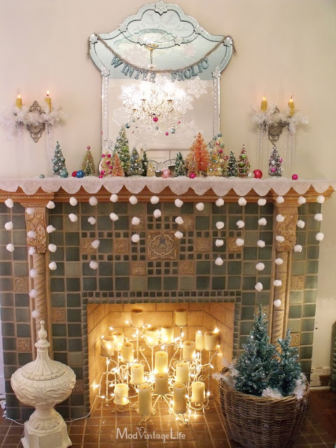 snowfall garland craft