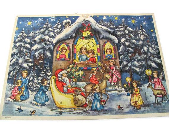 1950s vintage advent calendar