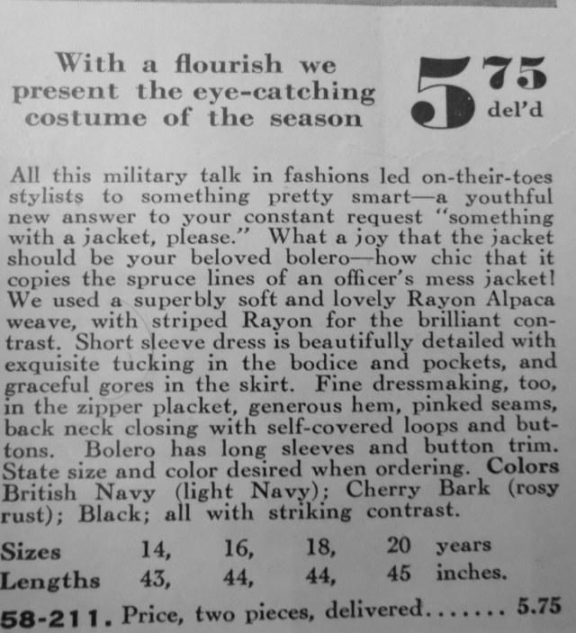 Eatons Catalogue 1940s 1941 Fall Winter Fashion