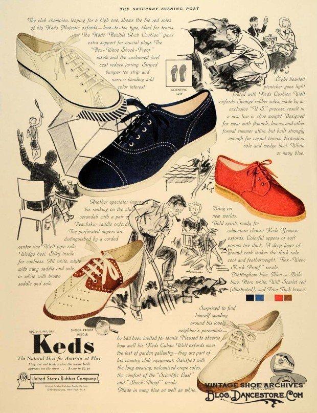 1937-Ad-Keds-Shoes-Color-vintage ad