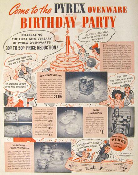 1939 vintage pyrex ad