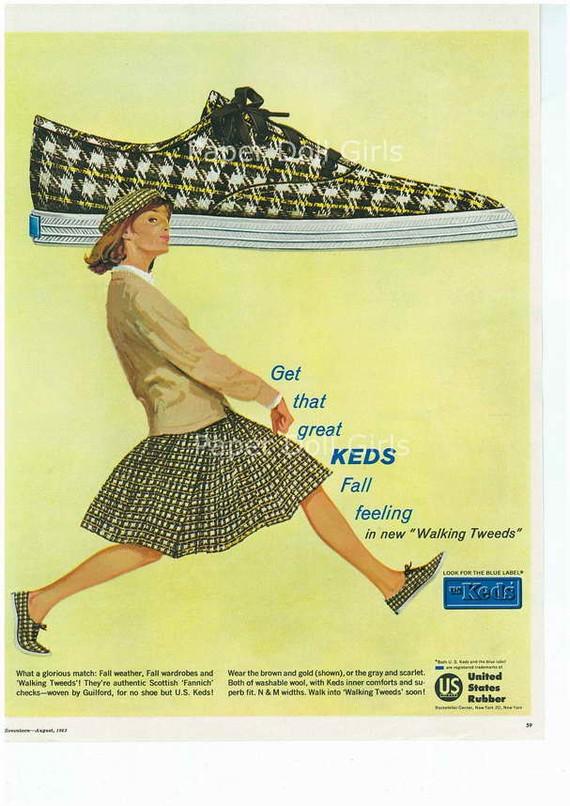 1960s Vintage Keds Ad