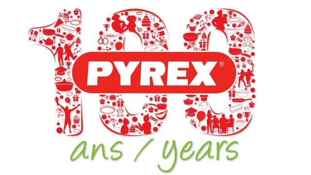 Pyrex 100 Years logo