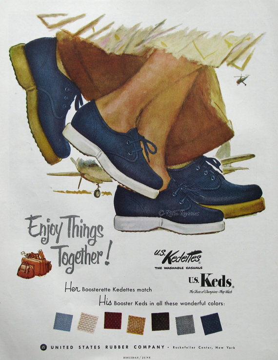 1953 US Keds Booster Shoes Ad