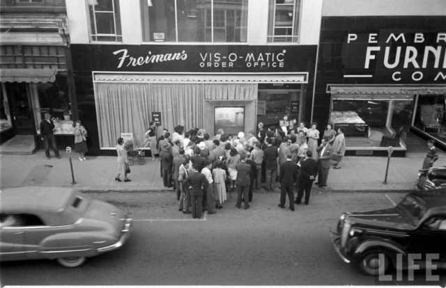 1950s vintage image of is-O-Matic department store