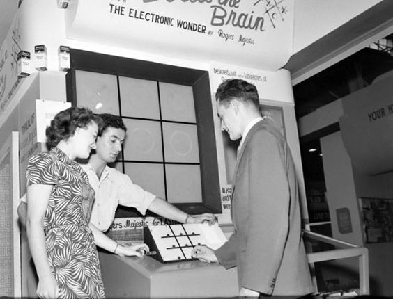 Bertie the Brain, arguably the world's first arcade game, at the CNE in 1950.