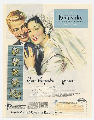 1950 ad for wedding ring