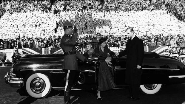 Queen elizabeth 2nd in Toronto 1951