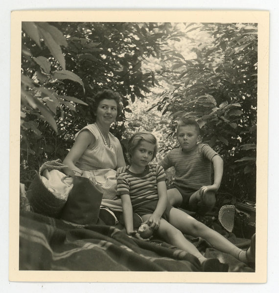 1950s vintage family image