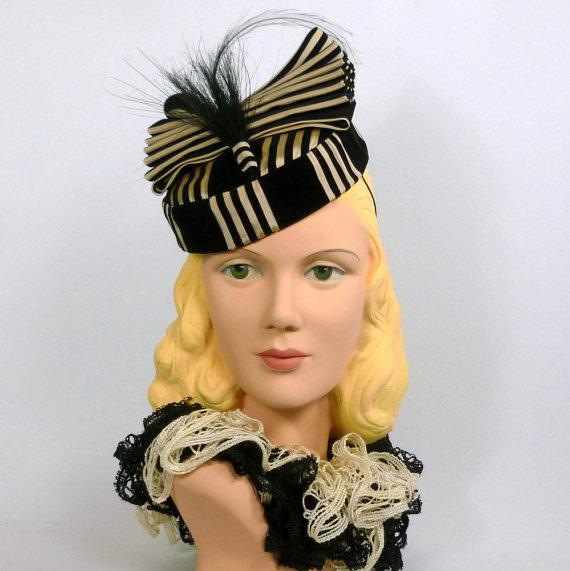 1940s vintage style tilt hat